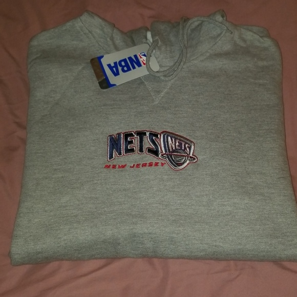 buy online c5874 4e6a1 New Jersey Nets Sweatshirt Brand New Grey NWT